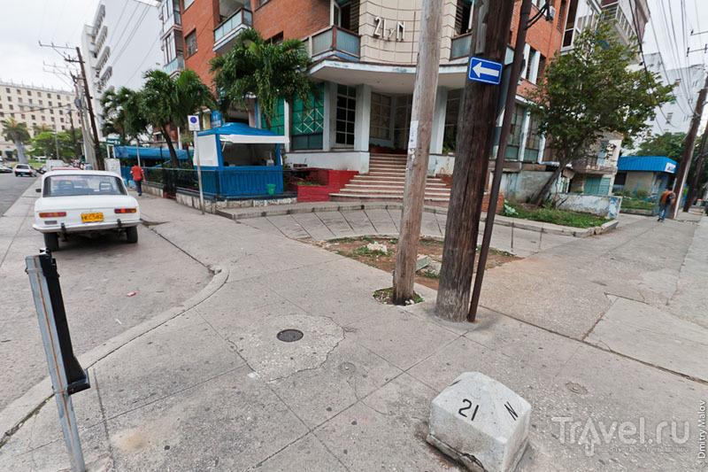 Перекресток в Гаване, Куба / Фото с Кубы