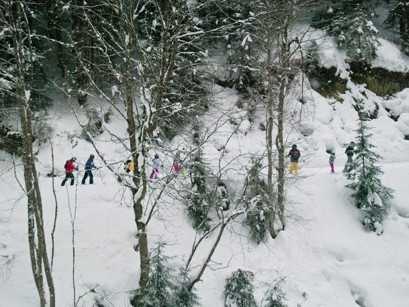 Завершение трассы №12а - все идут пешком / Фото из Австрии