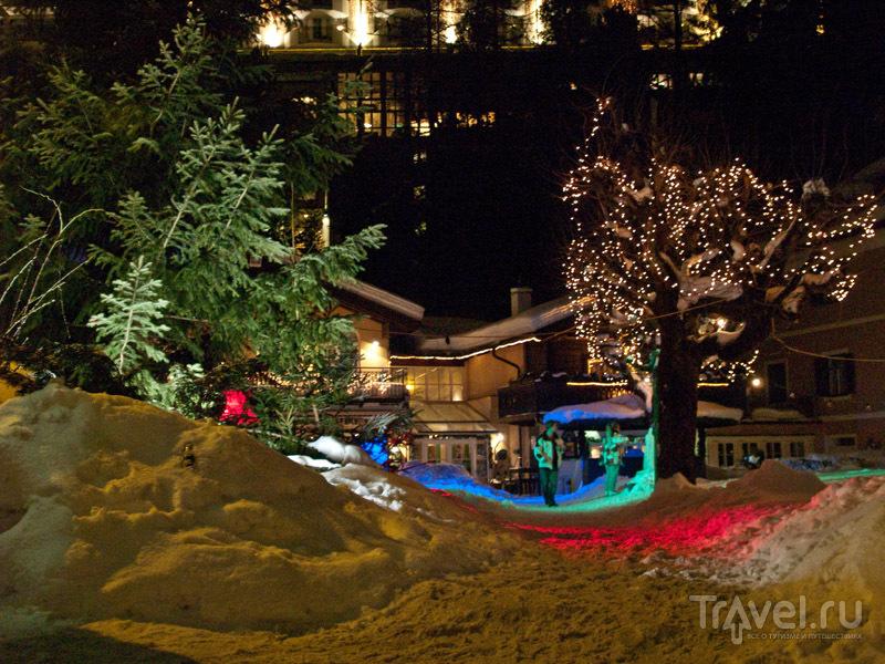 Ночная подсветка Бадгастайна / Фото из Австрии