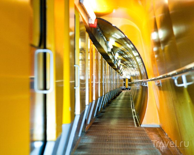 Поезд в радоновой штольне / Фото из Австрии