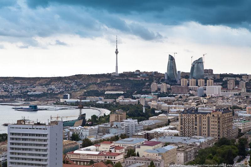 Пейзаж Баку / Фото из Азербайджана