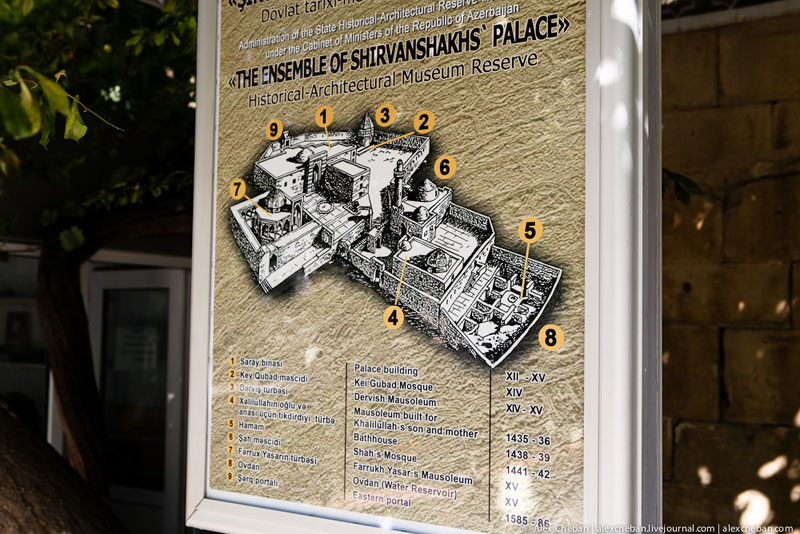 План Дворца ширваншахов в Баку / Фото из Азербайджана