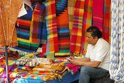 Продавец цветных пледов / Мексика