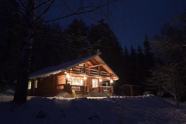Фото домов вечером