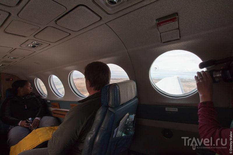 В салоне самолета CC-ACQ / Фото из Антарктики