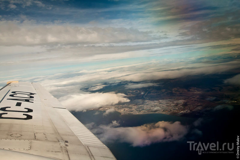 Вид на Пунта-Аренас из самолета / Фото из Антарктики