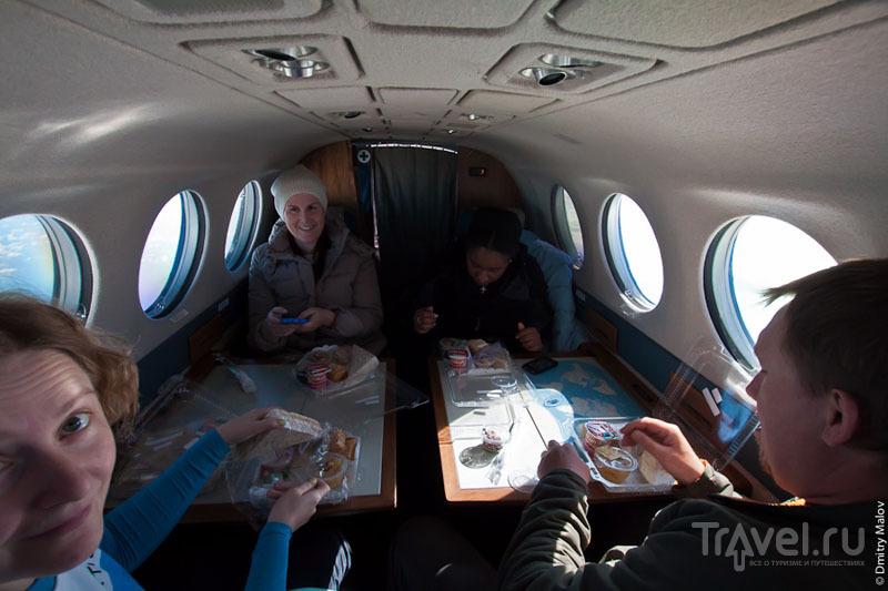 Обед на борту самолета / Фото из Антарктики