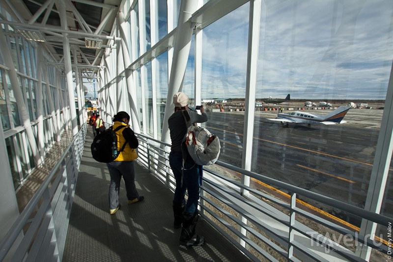 Гейт в аэропорту Пунта-Аренаса / Фото из Антарктики