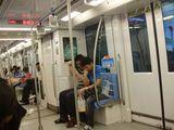 В вагоне метро / Китай