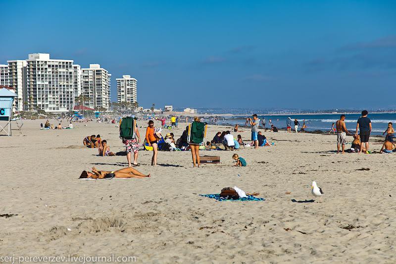Пляж в Коронадо, Калифорния / Фото из США
