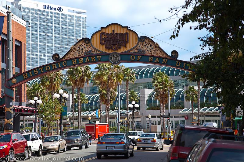 В центре Сан-Диего, Калифорния / Фото из США
