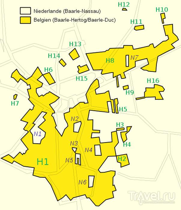Карта границы между Бельгией и Нидерландами / Фото из Бельгии