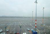 Вид из окон бизнес-зала Lufthansa / Германия