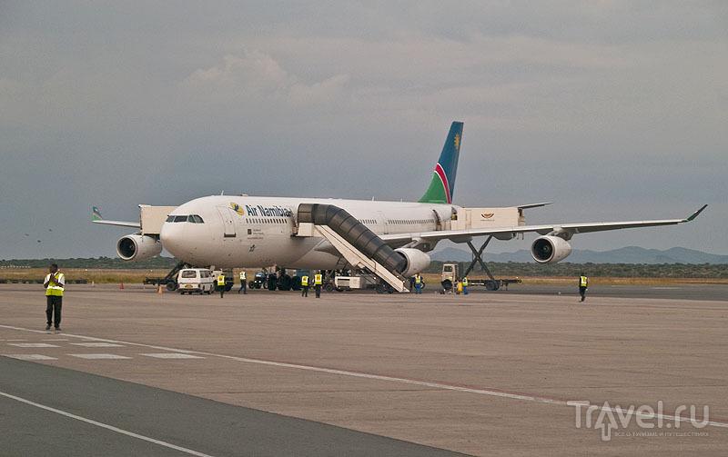 Самолет Air Namibia в аэропорту Виндхука / Фото из Намибии