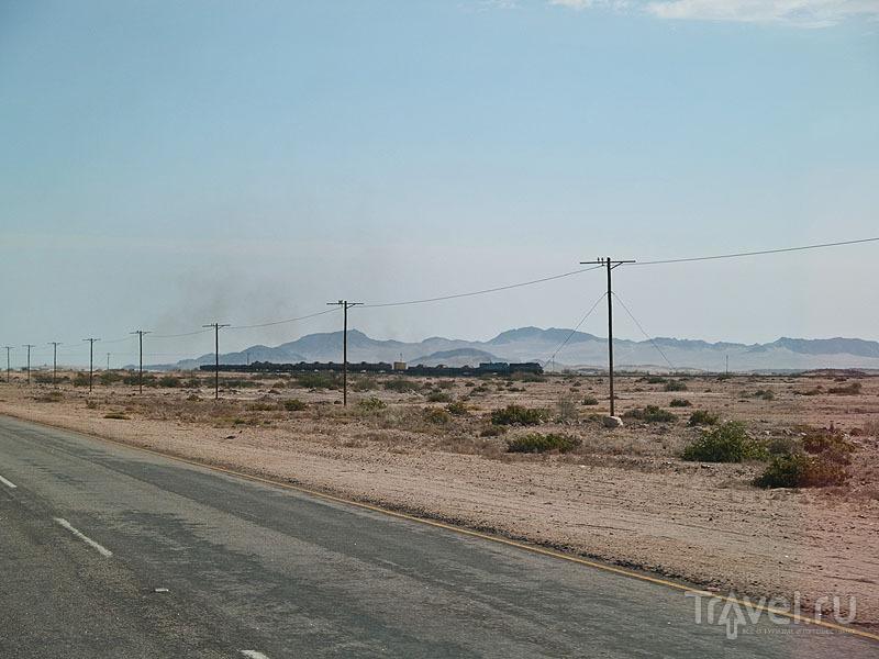 Паровоз в Намибии / Фото из Намибии