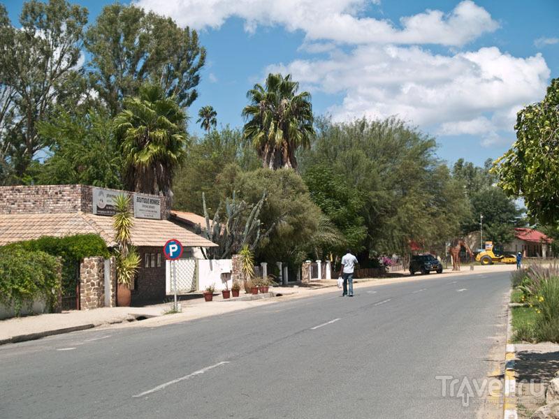 Чистая улица в намибийской деревне / Фото из Намибии