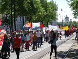 Колонна демонстрантов / Австрия