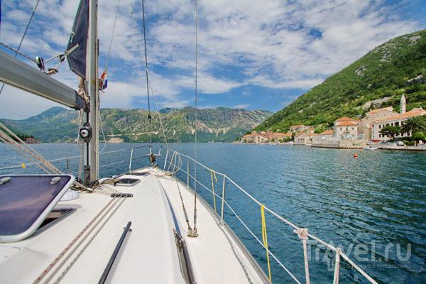 Яхта в Перасте / Фото из Хорватии