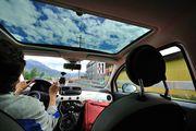В салоне Fiat 500 / Швейцария