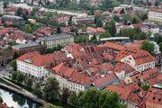 Старый квартал у реки / Словения