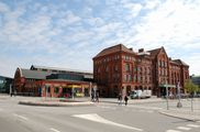 Фасад здания вокзала / Швеция