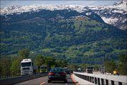 Автострада и горы / Лихтенштейн