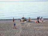 Лодки на пляже / Италия