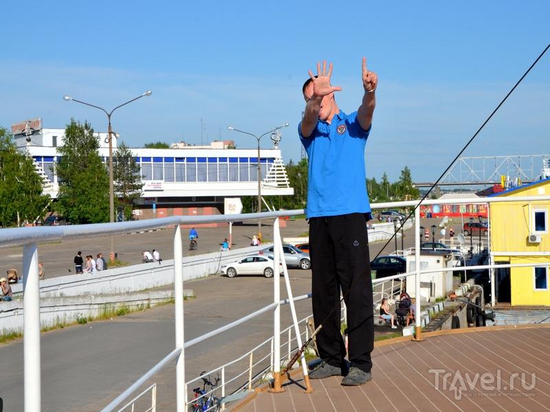 Швартовка парохода в порту / Фото из России