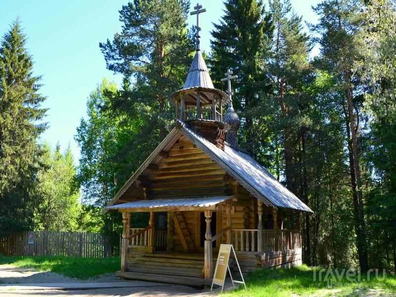 Деревянная часовня в музее деревянного зодчества Малые Корелы / Фото из России