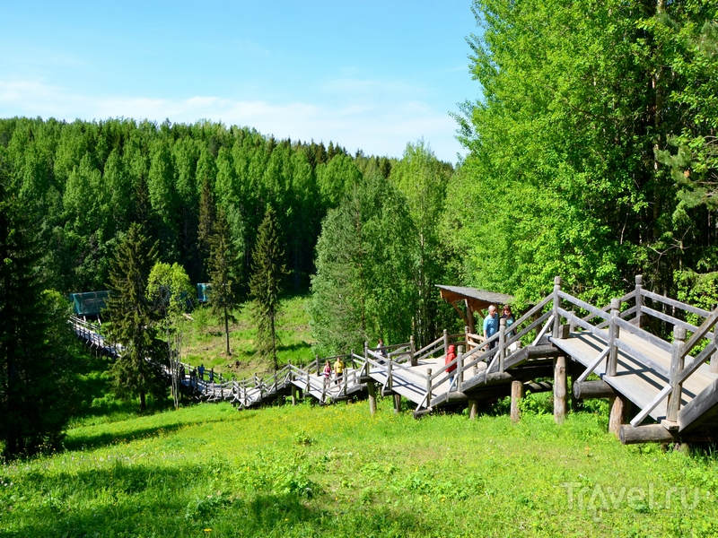 Деревянный настил в музее деревянного зодчества Малые Корелы / Фото из России