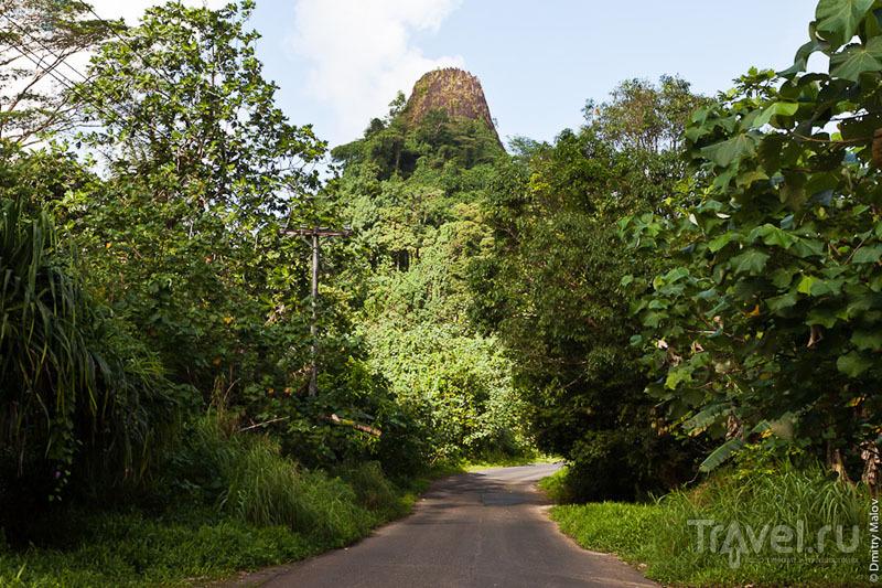 Вулканический останец на острове Понпеи, Микронезия / Фото из Микронезии