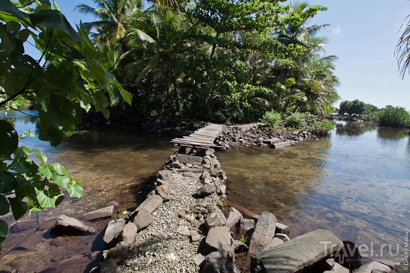 Мостик на острове Понпеи, Микронезия / Фото из Микронезии