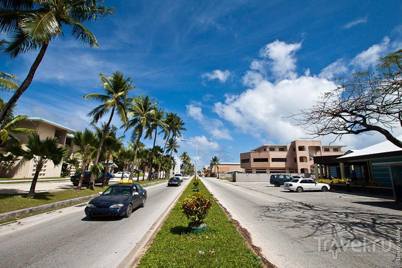 Дорога на острове Маджуро / Фото с Маршалловых островов