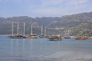 Яхты на фоне гор / Турция