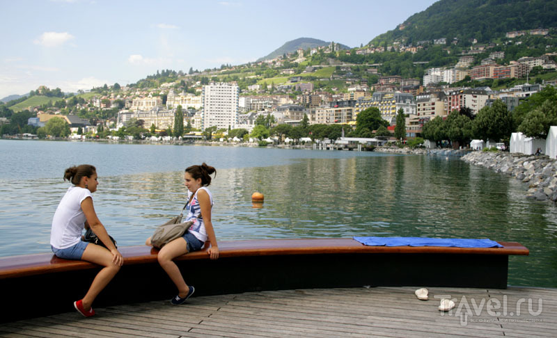 На берегу озера в Монтрё / Фото из Швейцарии