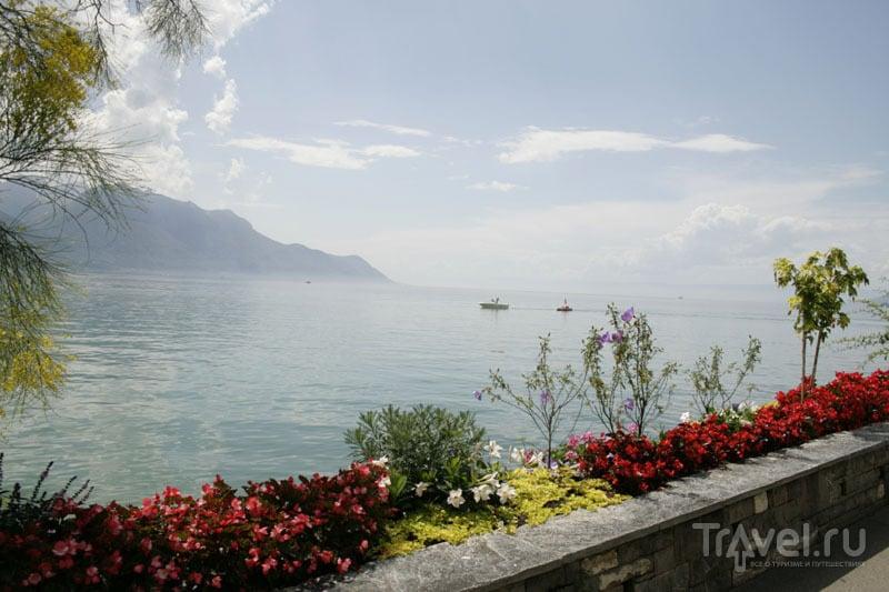 Вид на озеро из Монтрё / Фото из Швейцарии