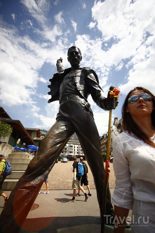 Памятник Фредди Меркьюри в Монтрё / Фото из Швейцарии