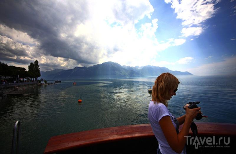 Вид на Женевское озеро / Фото из Швейцарии