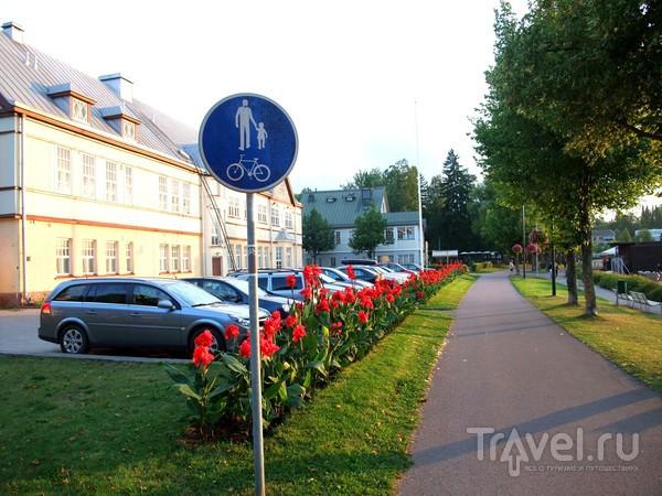 Велодорожка и цветы / Финляндия