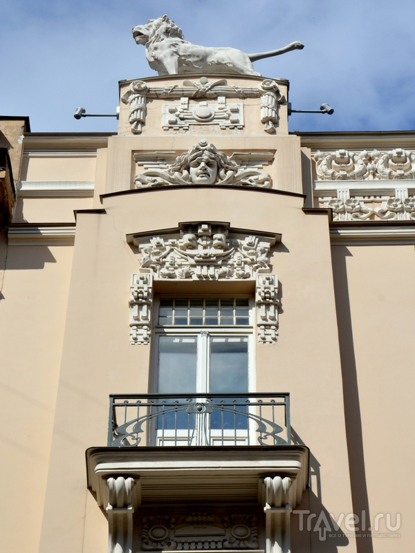 Украшения дома в югендстиле, Рига / Фото из Латвии