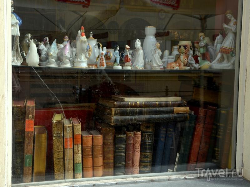 Витрина антикварного магазина в Риге / Фото из Латвии