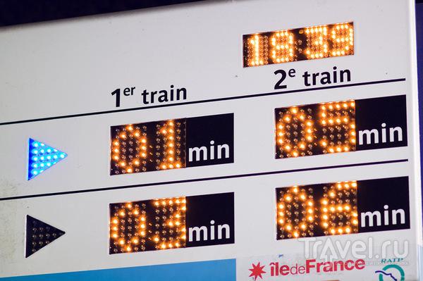 Табло на станции / Франция