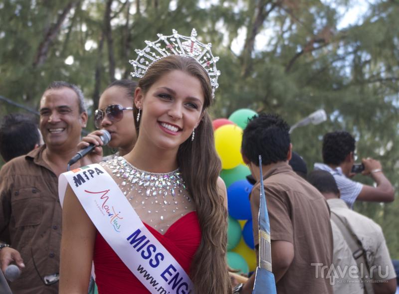 Мисс Англия на карнавале Flic en Flac, Маврикий / Фото с Маврикия