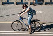 Лариса на велосипеде / Белоруссия