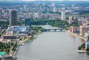 Вид на городской пруд / Россия