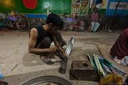 Мастерская по изготовлению велорикш / Бангладеш