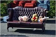 Кожаный диван / Великобритания
