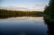 Озеро вечером / Финляндия