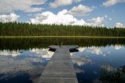 Озеро на закате / Финляндия
