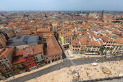 Вид на город с колокольни / Италия